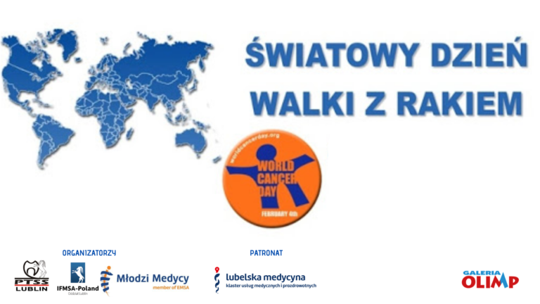 Plakat informujący o Światowym Dniu Walki z Rakiem
