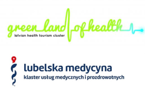 Logo of the Latvian Health Tourism Cluster and Lublin Medicine Cluster