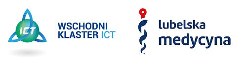 Logotypy Klastra Lubelska Medycyna i Wschodniego Klastra ICT